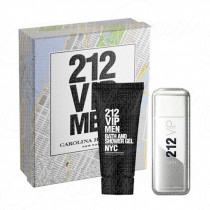 CAROLINA HERRERA 212 VIP MEN NYC GIFT SET SPRAY EAU DE TOILETTE 100ML+ BATH & SHOWER GEL 100ML