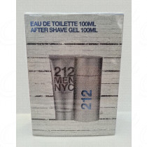 CAROLINA HERRERA 212 MEN NYC GIFT SET EAU DE TOILETTE 100ML+ AFTER SHAVE GEL 100ML