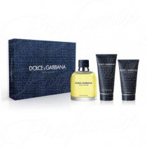 DOLCE & GABBANA POUR HOMME 75ML SPRAY EAU DE TOILETTE + DOPOBARBA IN BALSAMO 50ML + GEL DOCCIA 50ML