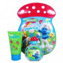 THE SMURFS GROUCHY SET 50ML SPRAY EAU DE TOILETTE + 75ML BAGNOSCHIUMA
