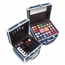 MARKWINS TRAINCASE OF COLOUR BAULETTO PROFESSIONALE IN METALLO COLORE ARAGOSTA SET PER LA BELLEZZA DELLE UNGHIE E MAKE UP